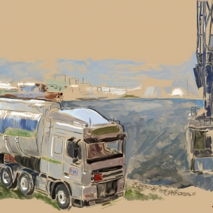 Vrachtwagen Melluhk